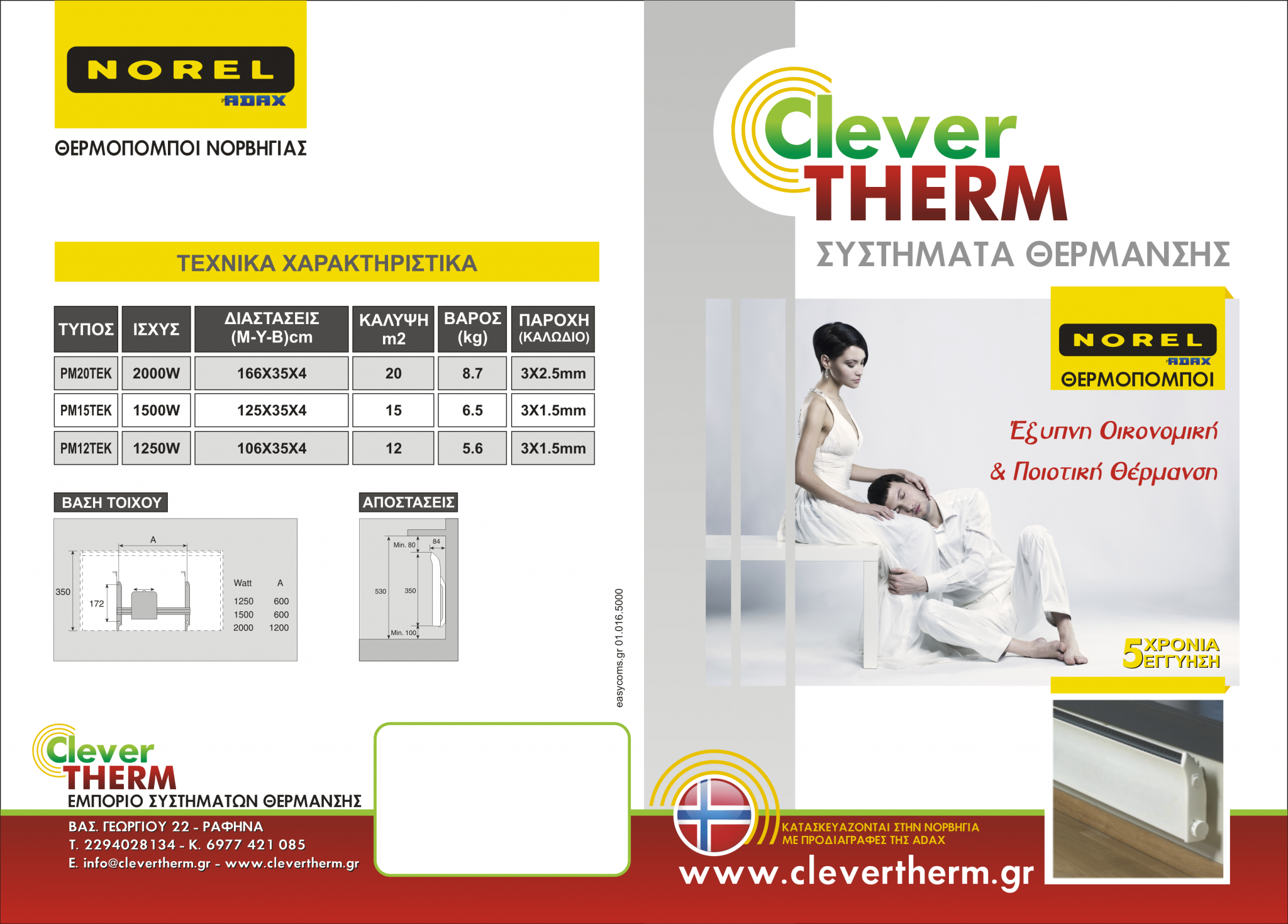 Clevertherm norel thermopompoi glamox